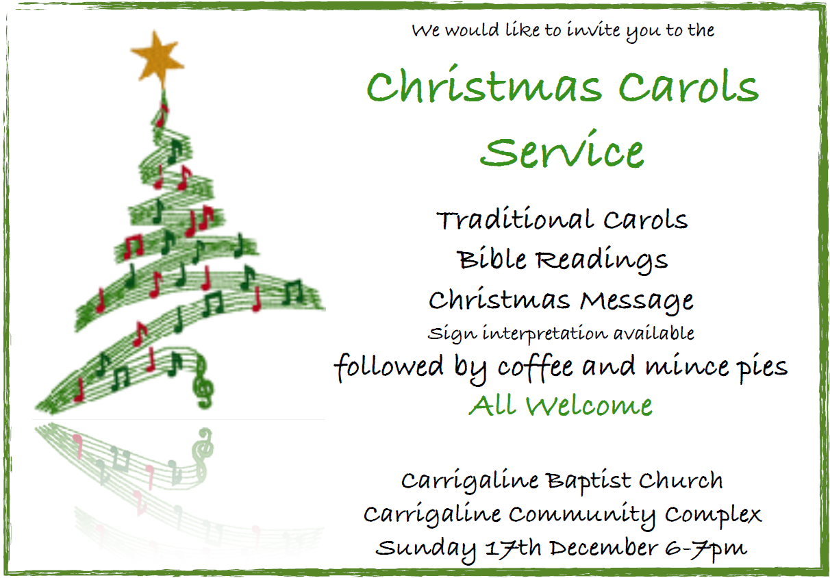 Christmas Carols Service 2017 | Carrigaline Baptist Church